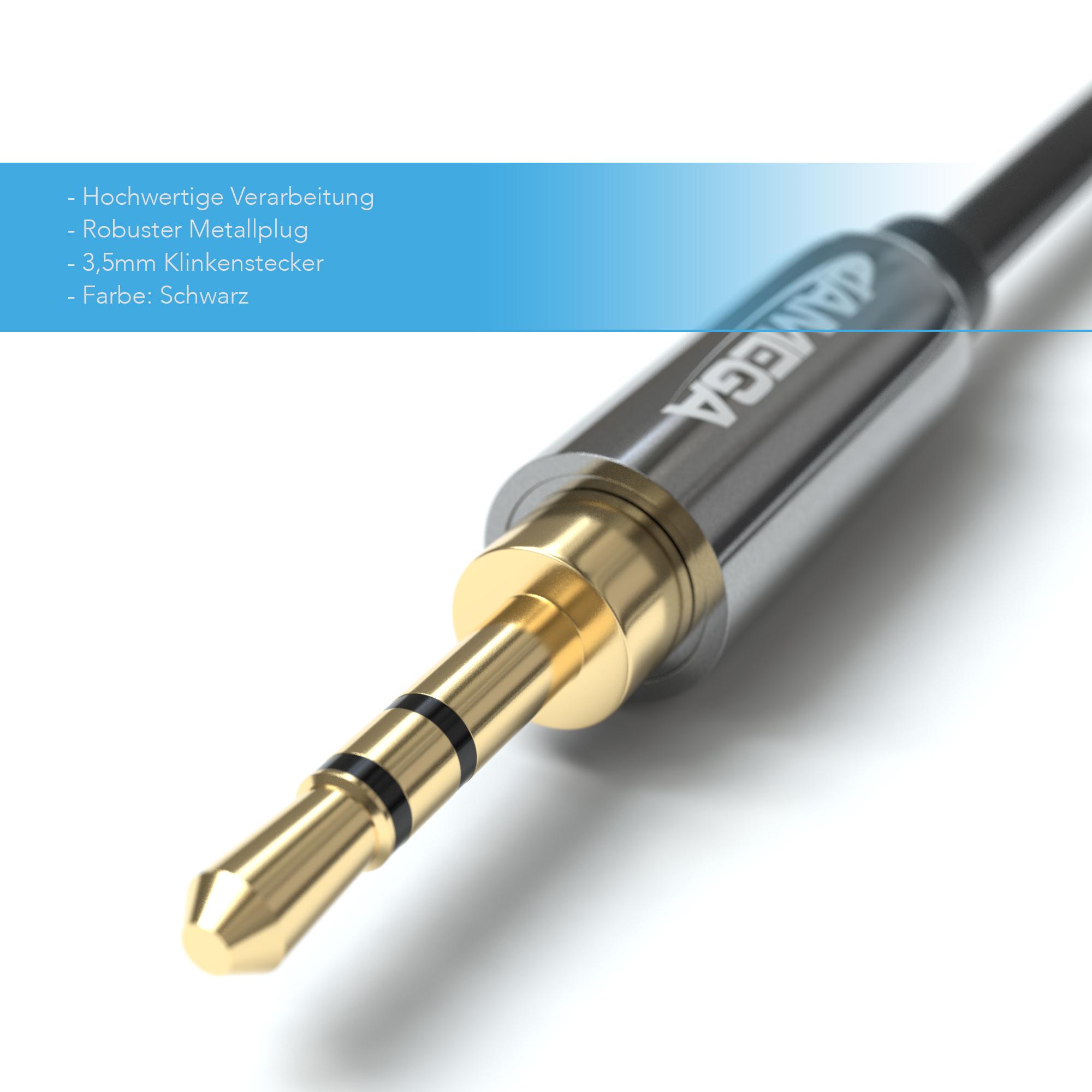15m aux kabel 3 5mm audio stereo klinke stecker f r handy. Black Bedroom Furniture Sets. Home Design Ideas